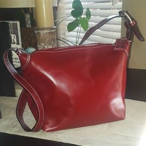 Latico Genuine Wine Red Leather Shoulder Bag
